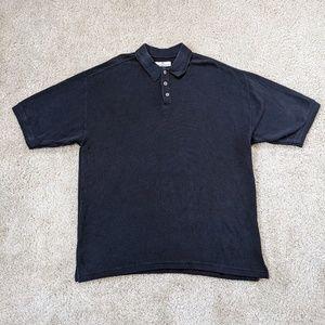 Tommy Bahama Polo Shirt Men's XL Silk Black